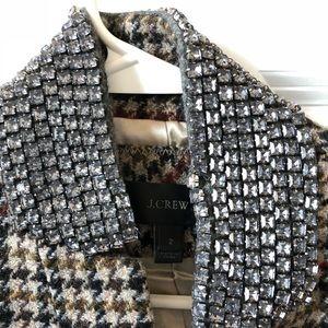 Jcrew regent blazer with studded collar